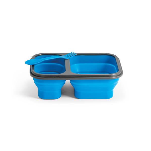 Box para refeições retrátil em silicone e PP 480ml + 760ml