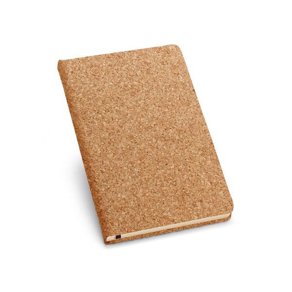 Caderno de capa dura em cortiça