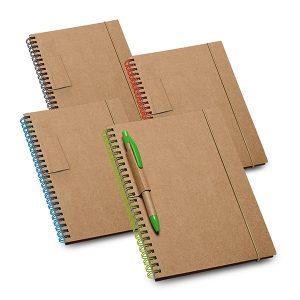 Caderno em papel cartão com capa dura