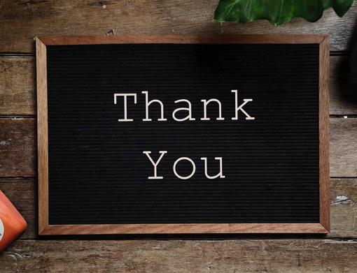 Agradeça com a melhor placa