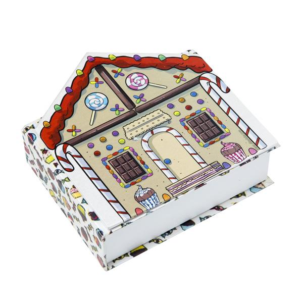 Caixa rígida forrada em papel colorplus, modelo livro