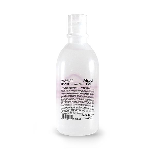 Álcool em Gel 500ml 70% antisséptico para higienização