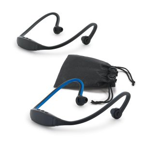 Fone de ouvido. ABS e silicone. Com transmissão por bluetooth