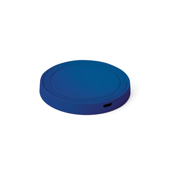Carregador wireless fast produzido em ABS e silicone Azul