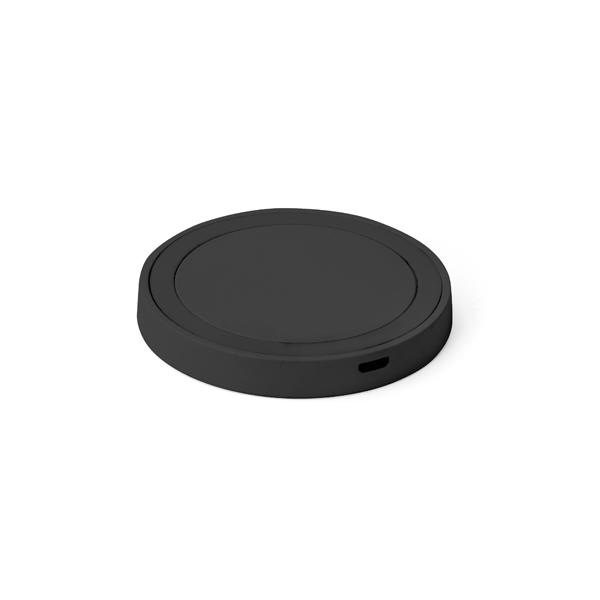 Carregador wireless fast produzido em ABS e silicone Preto