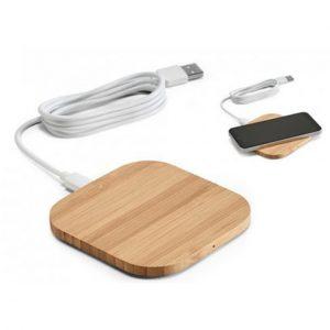 Carregador wireless. Bambu. Input: 5V/2A.