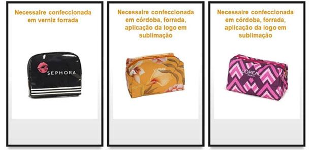 necessaires personalizadas cosméticos